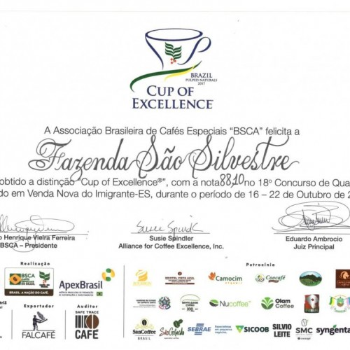 We are Cup Of Excellence Winners - 2017